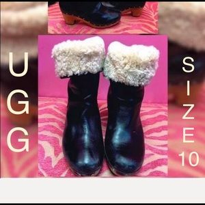 Ugg Fur & Stud Trim Boot